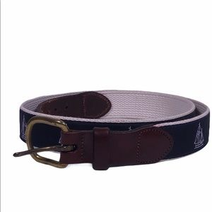 Sailboat Canvas Leather Belt
